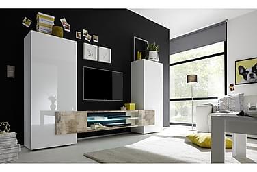 READING TV-möbel 258 Vit/Natur