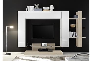 THENIKE TV-möbelset 259 Vit/Brun