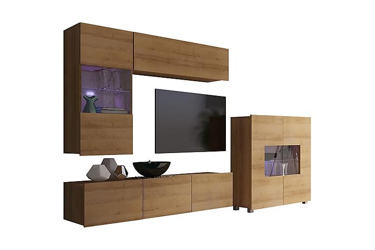 TRACEY TV-möbelset - Beige/Brun/Grå - Möbler - Vardagsrum - Tv-möbler & mediamöbler - Tv-möbelset