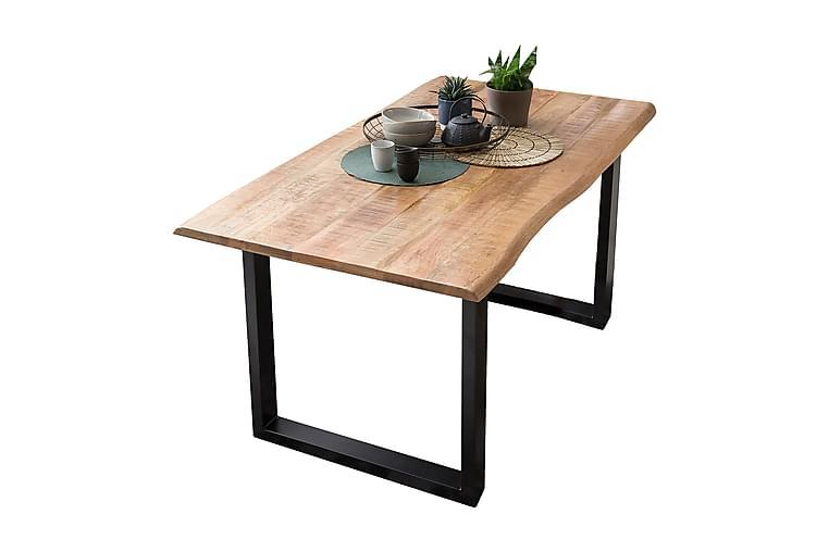 HOPPELI Avlastningsbord Trä/Natur/Svart - 160 - Möbler & Inredning - Bord - Avlastningsbord