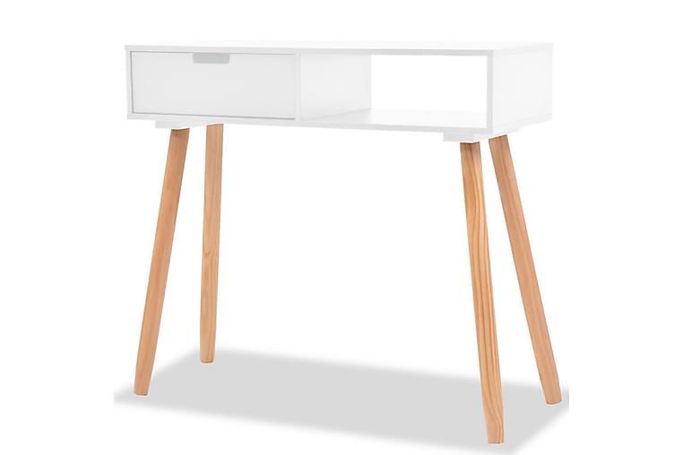 Konsolbord massiv furu 80x30x72 cm vit - Vit - Möbler & Inredning - Bord - Avlastningsbord