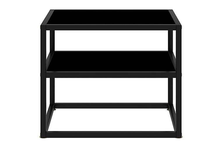 Konsolbord svart 50x40x40 cm härdat glas - Svart - Möbler & Inredning - Bord - Avlastningsbord