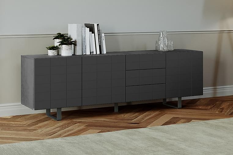 ROTKILEN Avlastningsbord 45 cm Betong/Svart - Möbler & Inredning - Bord - Avlastningsbord
