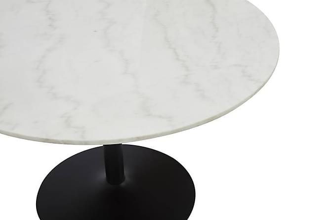 GENEVA Matbord 100 Runt Marmor Svart/Vit - Möbler & Inredning - Bord - Matbord