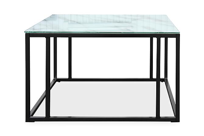 LIZ Soffbord 75 Marmor/Ek - Marmorglas - Möbler & Inredning - Bord - Soffbord