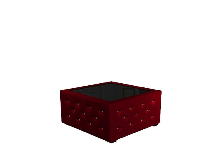 BONNATEA Soffbord 90x90x47 cm - Röd - Möbler - Vardagsrum - Soffbord & vardagsrumsbord - Soffbord