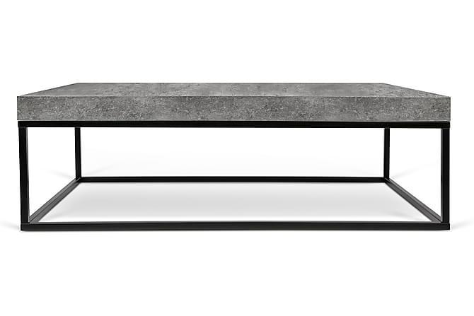 CARLEJU Soffbord 120 Svart/Betong - Möbler & Inredning - Bord - Soffbord