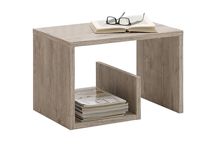 FMD Soffbord 2-i-1 59,1x35,8x37,8 cm ljus ek - Beige - Möbler & Inredning - Bord - Soffbord
