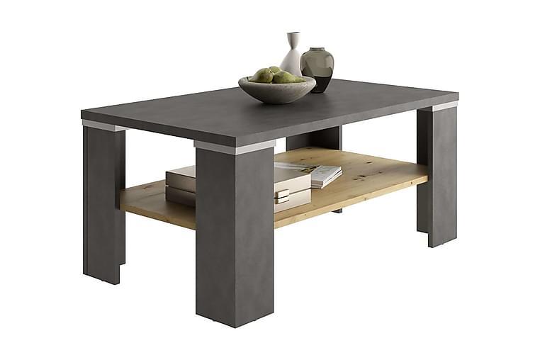 FMD Soffbord med hylla materagrå och artisan-ek - Flerfärgad - Möbler & Inredning - Bord - Soffbord