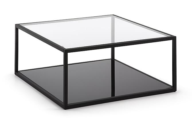 GRANBY Soffbord 80 Glas/Svart - Möbler & Inredning - Bord - Soffbord