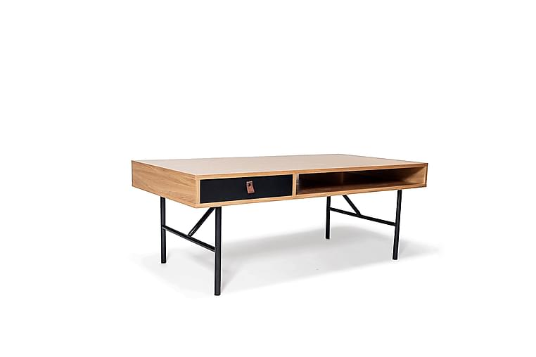 KAGAN Soffbord 117 cm Svart/Ek - Möbler & Inredning - Bord - Soffbord