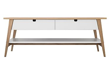 KIVIK Soffbord 130 med 2 Lådor Ek/Vit