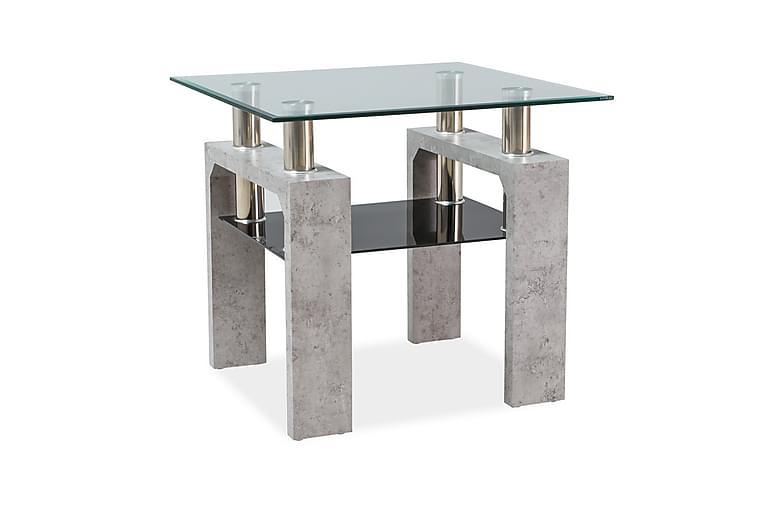 KOBRIN Soffbord 60 cm Glas/Grå - Möbler & Inredning - Bord - Soffbord
