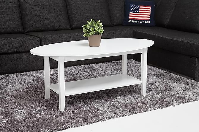 MIDLANDS Soffbord 120 Oval Vit - Möbler & Inredning - Bord - Soffbord