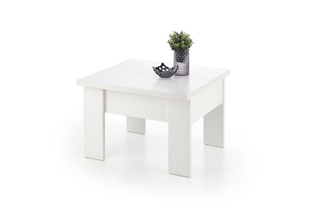 MILLNER Förlängningsbart Soffbord 80 Vit - Möbler & Inredning - Bord - Soffbord