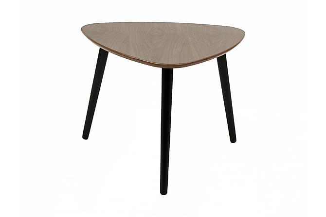 MINGEL Soffbord 62 Oval Valnöt/Svart - Möbler & Inredning - Bord - Soffbord