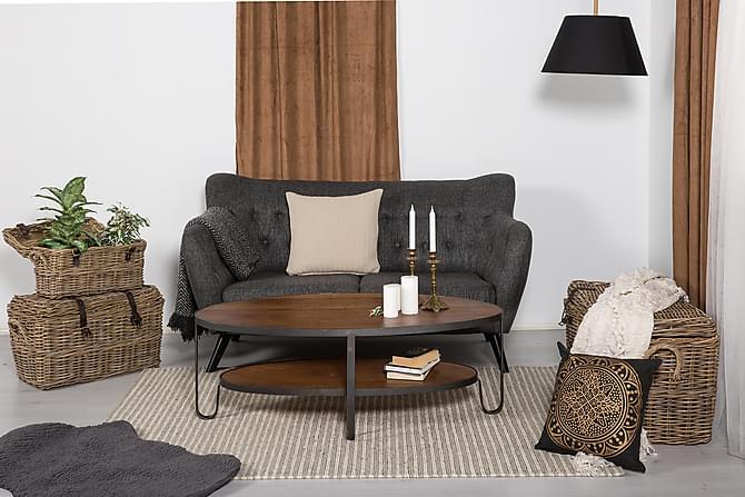 NEVADA Soffbord 128 Oval Trä - Möbler & Inredning - Bord - Soffbord