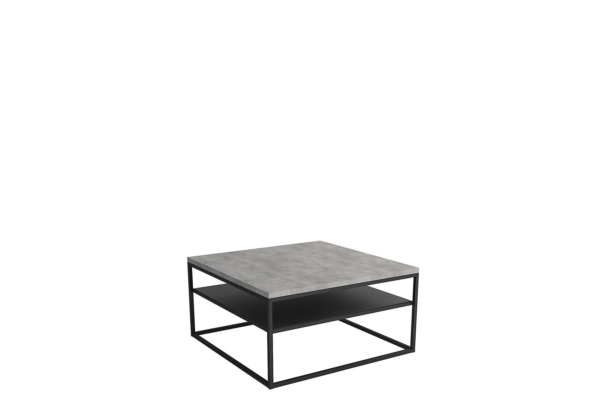 Northleach soffbord 85 cm grå/svart