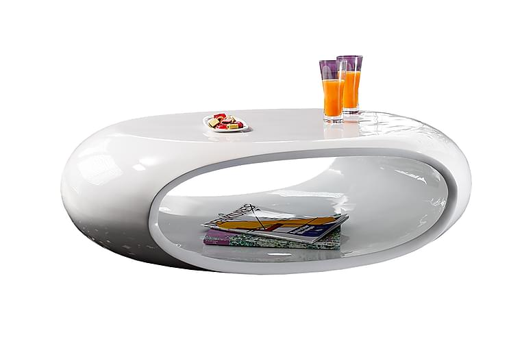 Soffbord 109x59x34 cm white fiberglass - Möbler & Inredning - Bord - Soffbord