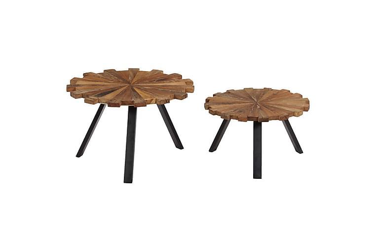 Soffbord 2 st massivt återvunnet trä - Brun - Möbler & Inredning - Bord - Soffbord