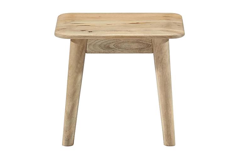 Soffbord 45x45x40 cm massivt mangoträ - Brun - Möbler & Inredning - Bord - Soffbord