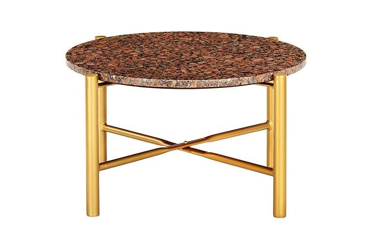 Soffbord brun 60x60x35 cm äkta sten med marmorstruktur - Brun - Möbler & Inredning - Bord - Soffbord