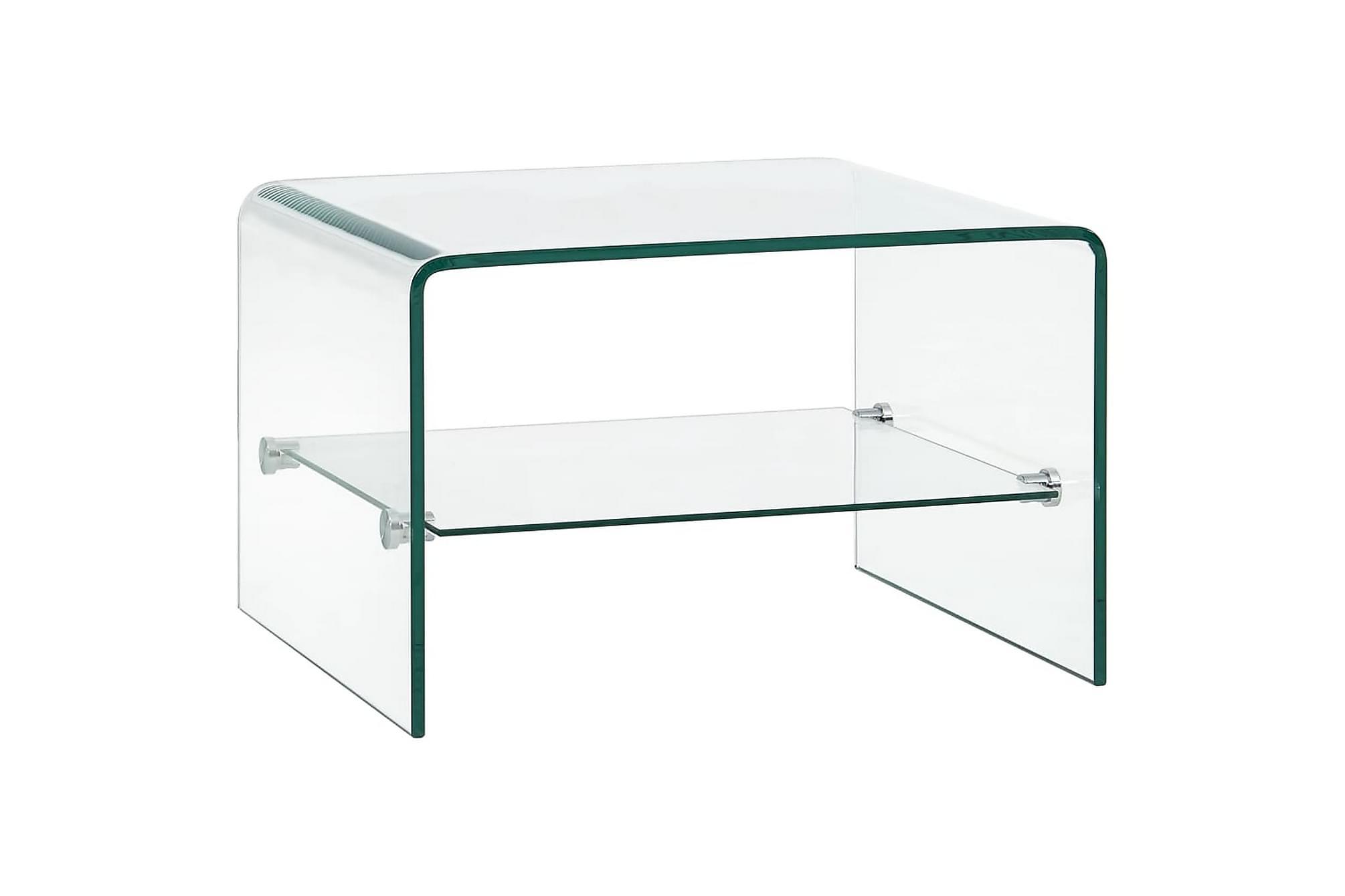 Soffbord genomskinlig 50x45x33 cm härdat glas