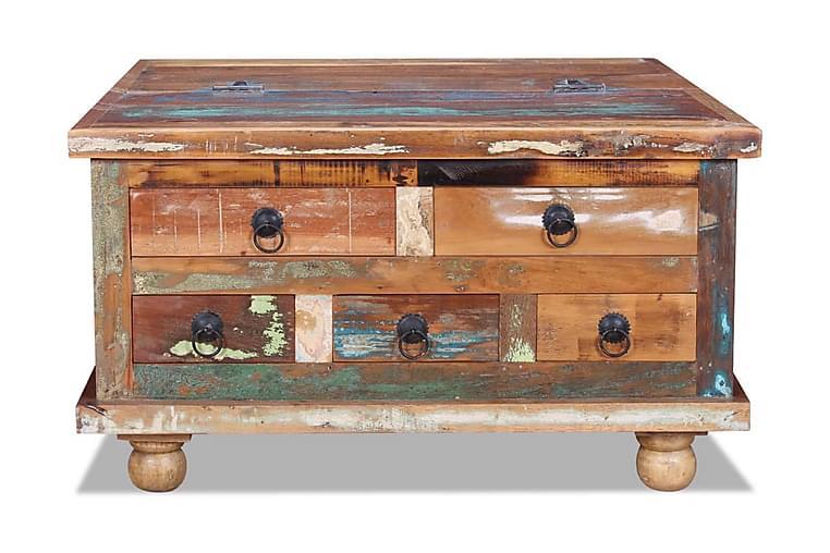 Soffbord i återvunnet trä 70x70x38 cm - Brun - Möbler & Inredning - Bord - Soffbord