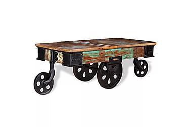 DERBERONE Soffbord med Hjul 90x45 Återvunnet Trä