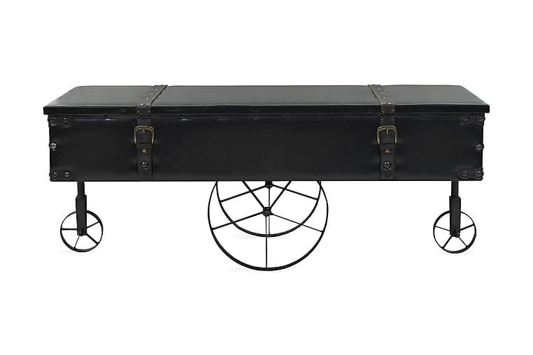 Soffbord MDF och granträ 110x55x43 cm - Svart - Möbler & Inredning - Bord - Soffbord