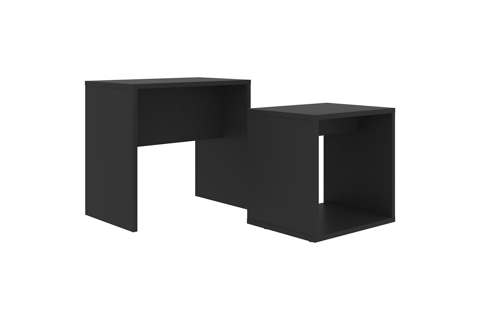 Soffbord set svart 48x30x45 cm spånskiva