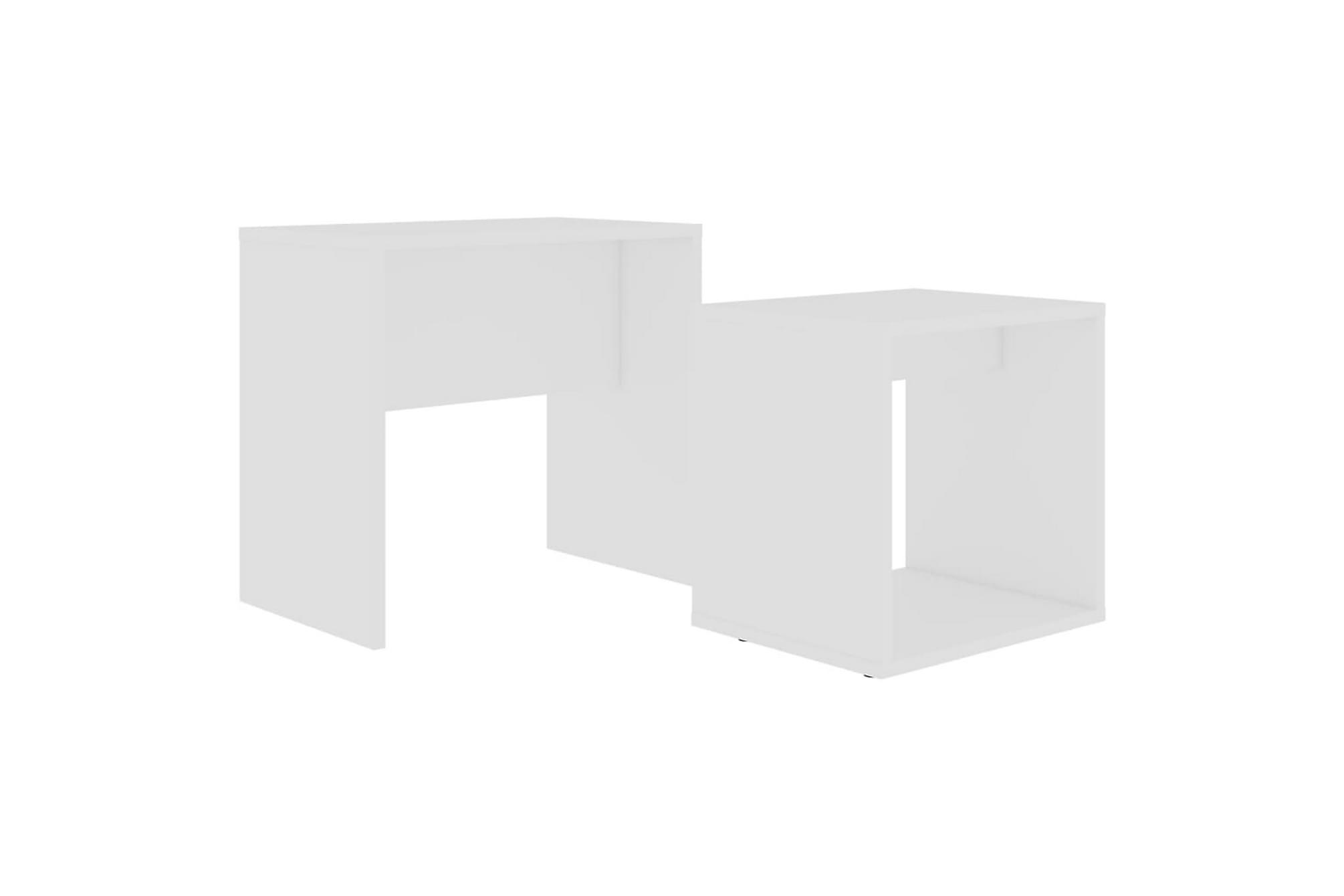 Soffbord set vit högglans 48x30x45 cm spånskiva