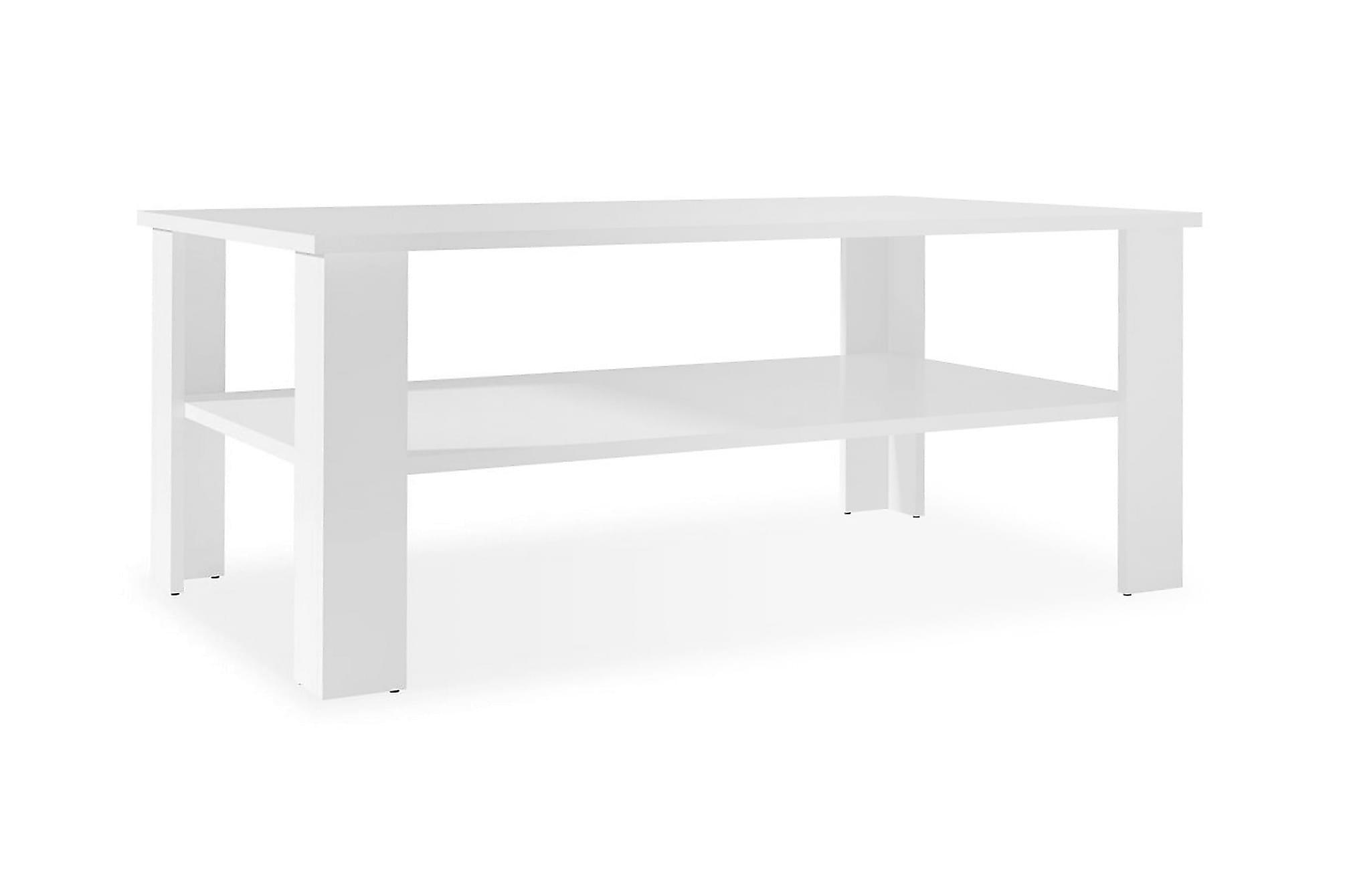 Soffbord spånskiva 100x59x42 cm vit