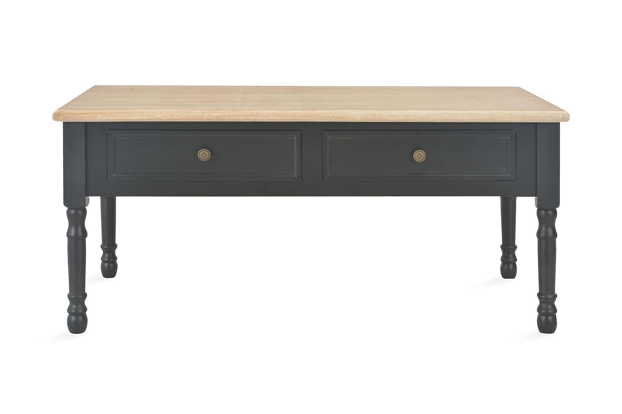 Soffbord svart 100x55x45 cm trä
