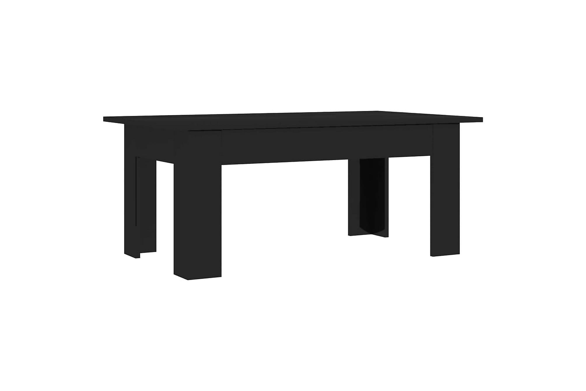 Soffbord svart högglans 100x60x42 cm spånskiva