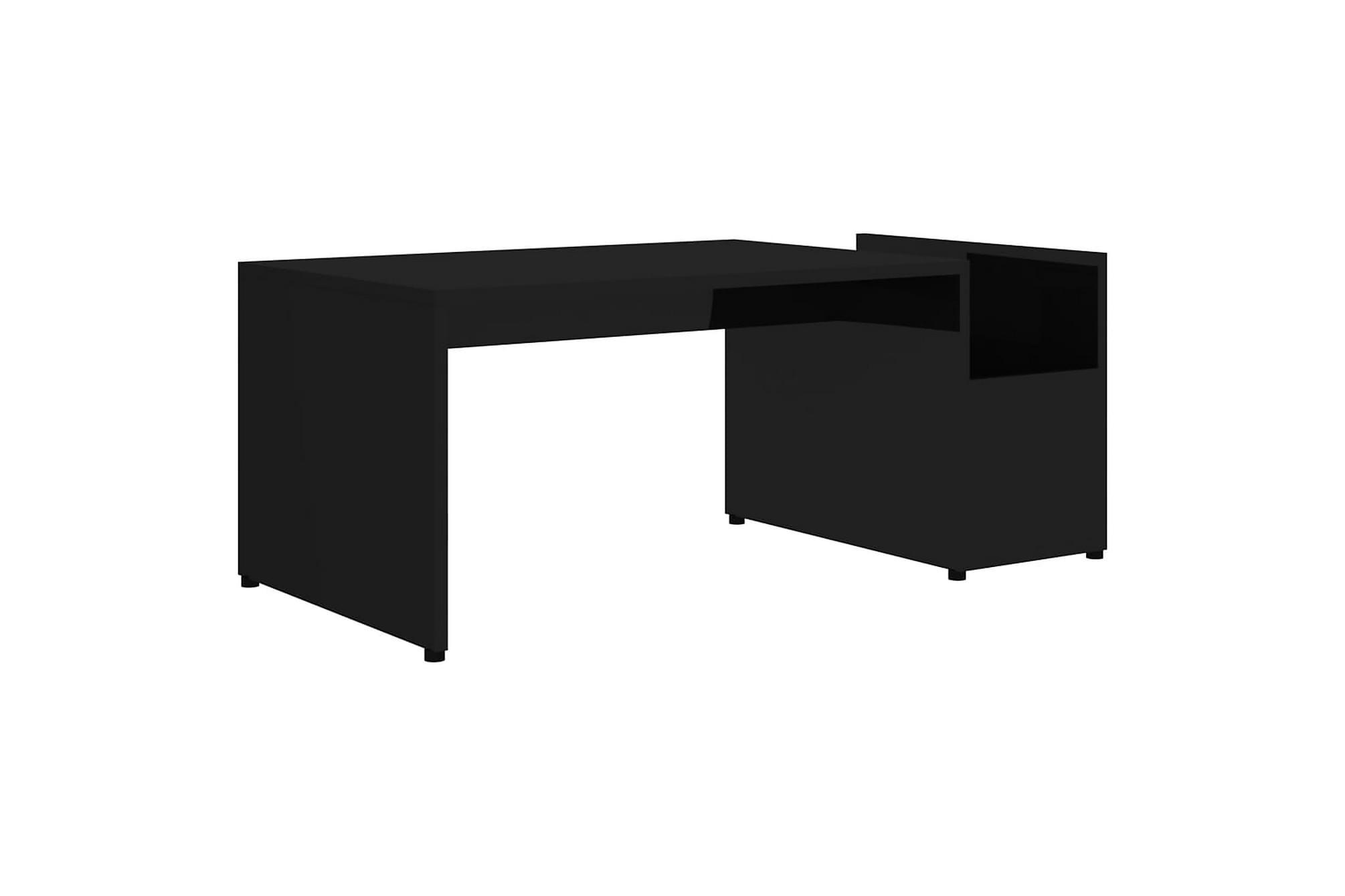 Soffbord svart högglans 90x45x35 cm spånskiva