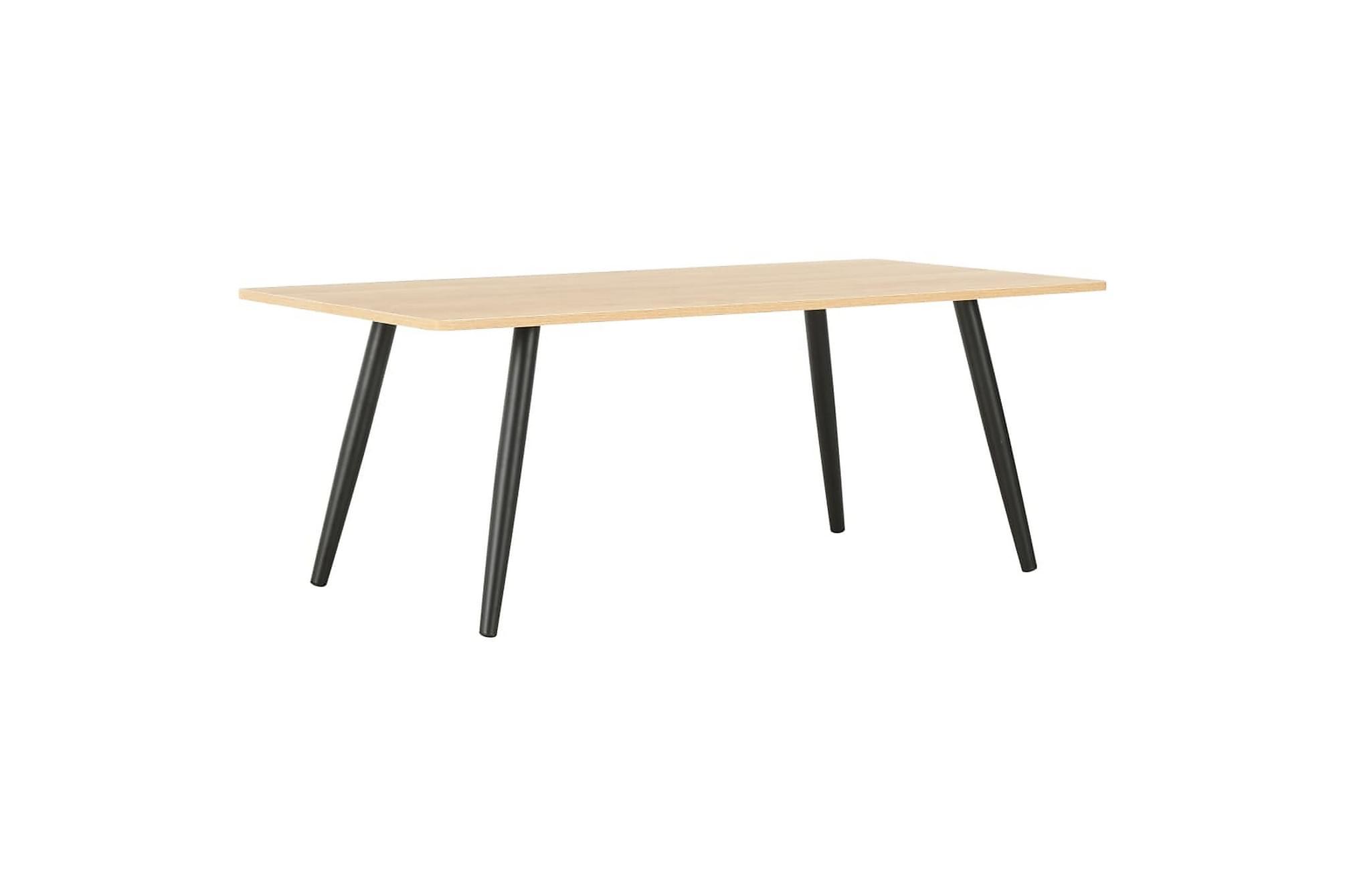 Soffbord svart och ek 120x60x46 cm