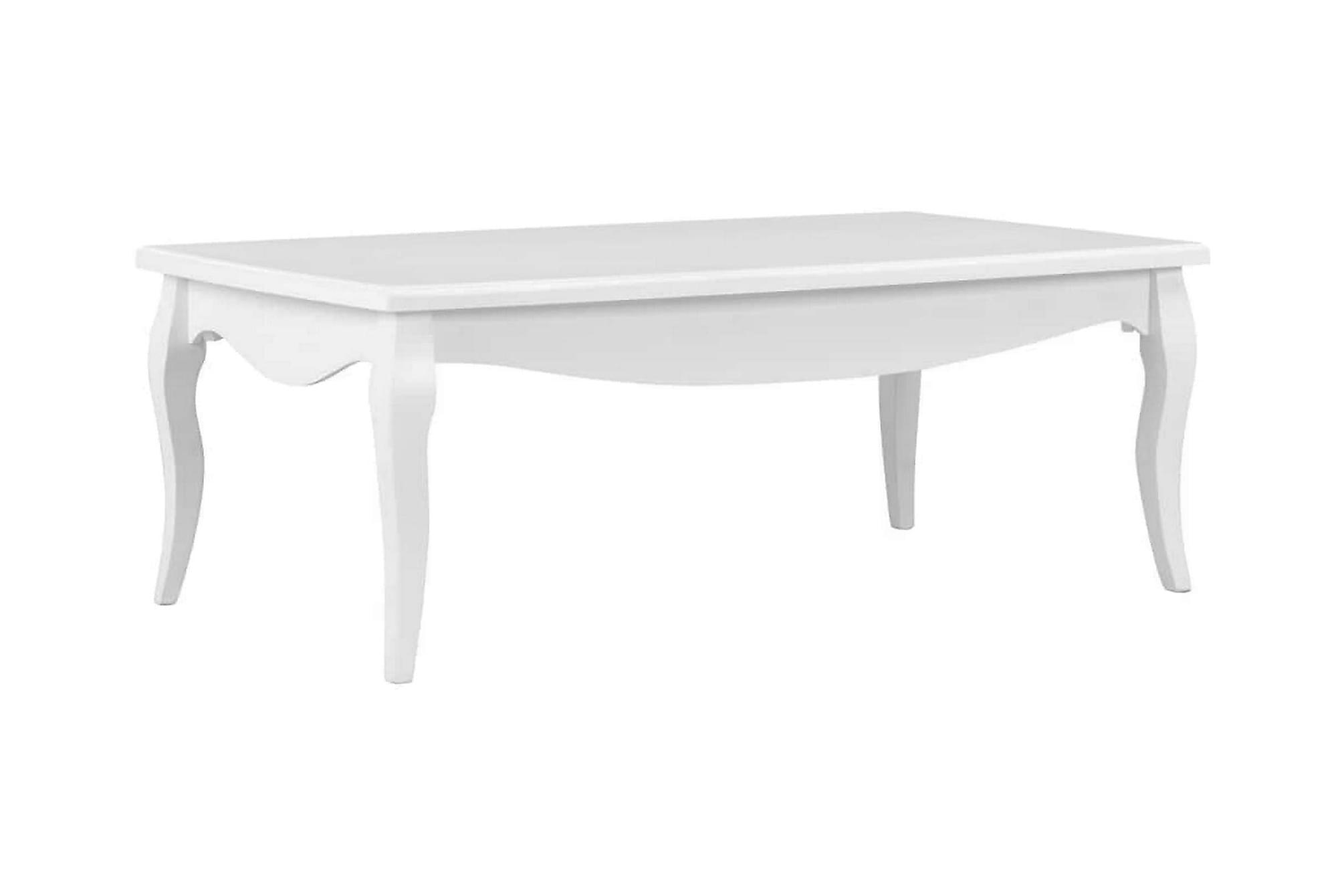 Soffbord vit 110x60x40 cm massiv furu