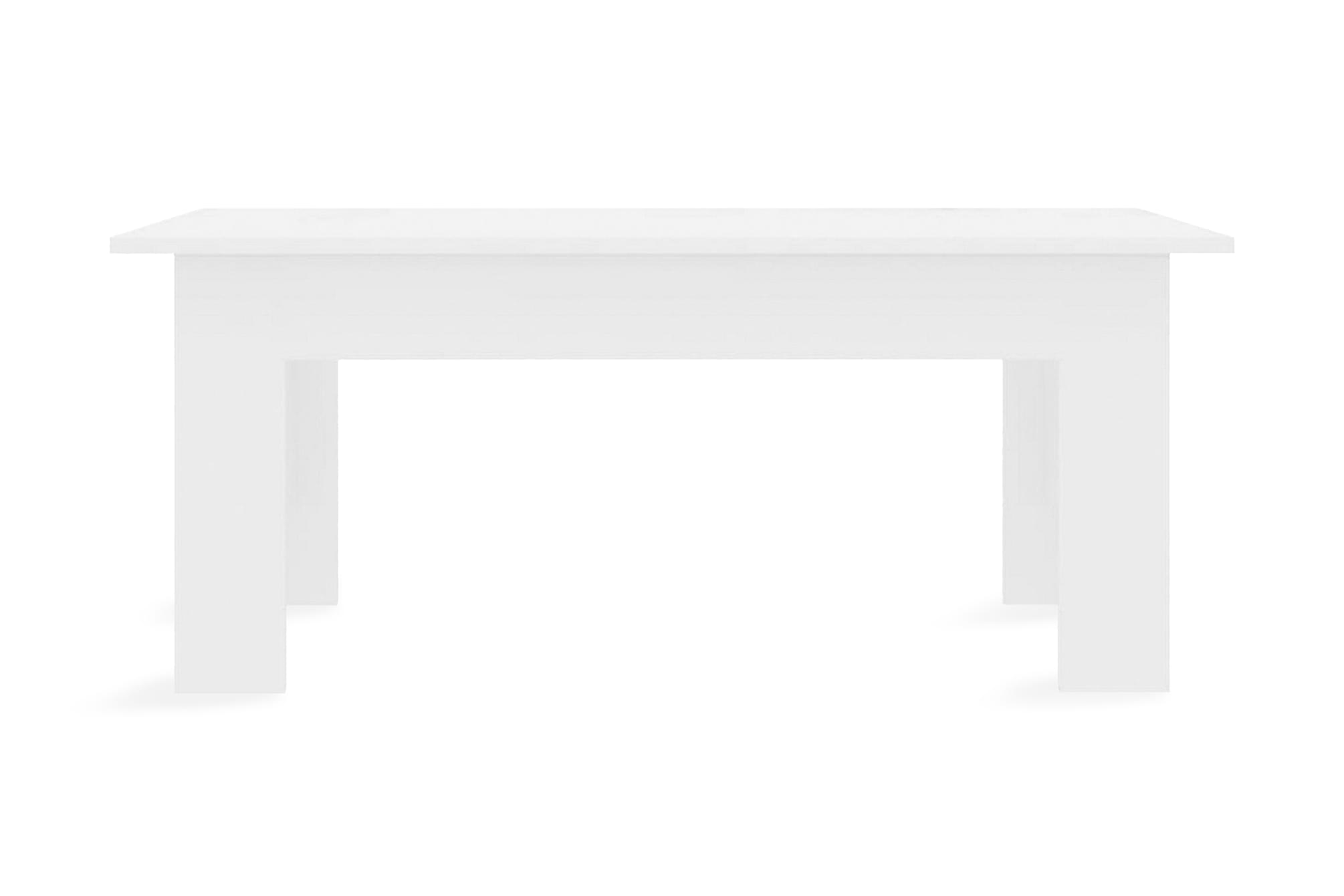 Soffbord vit högglans 100x60x42 cm spånskiva