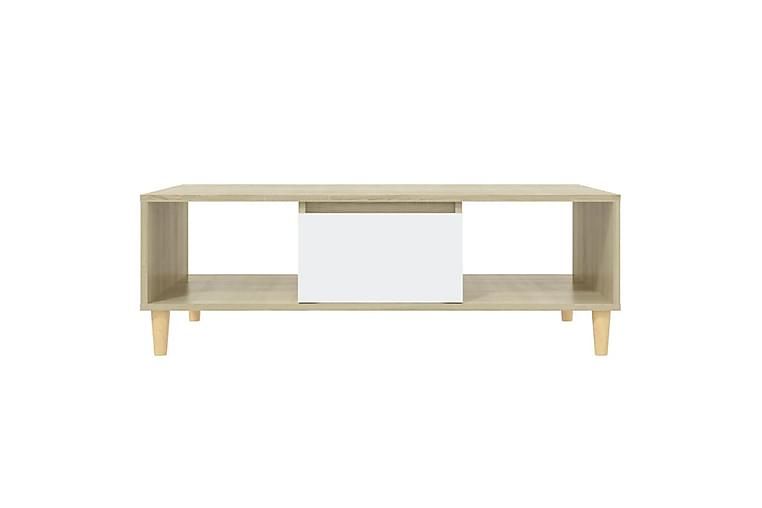 Soffbord vit och sonoma-ek 103,5x60x35 cm spånskiva - Beige - Möbler - Vardagsrum - Soffbord & vardagsrumsbord - Soffbord