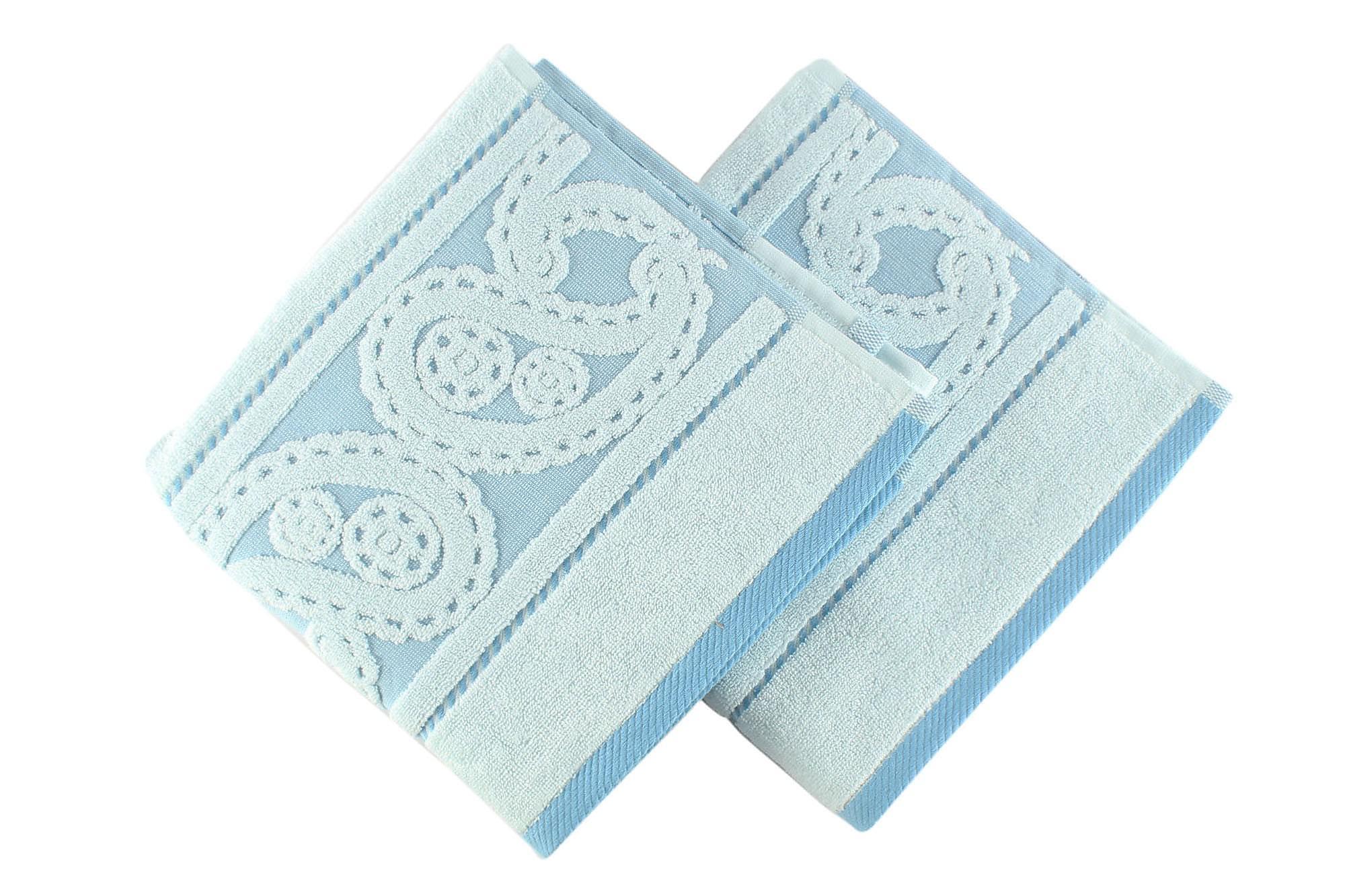 HOBBY Handduk 50×90 2-pack Blå/Ljusblå