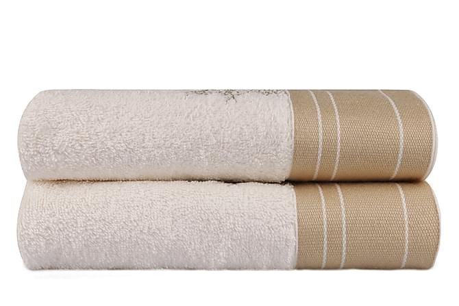 HOBBY Handduk 50x90 2-pack Creme/Vit - Möbler & Inredning - Inredning - Badrumstextilier
