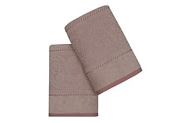 HOBBY Handduk 50x90 2-pack Rosa/Beige