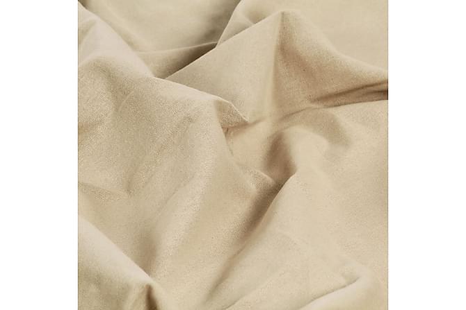 Gardiner med metallringar 2 st bomull 140x245 cm beige - Beige - Möbler & Inredning - Inredning - Gardiner & gardinupphängning