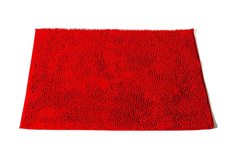ANYA NELSON Badrumsmatta 120x70 Stor Röd - Möbler & Inredning - Mattor - Badrumsmattor