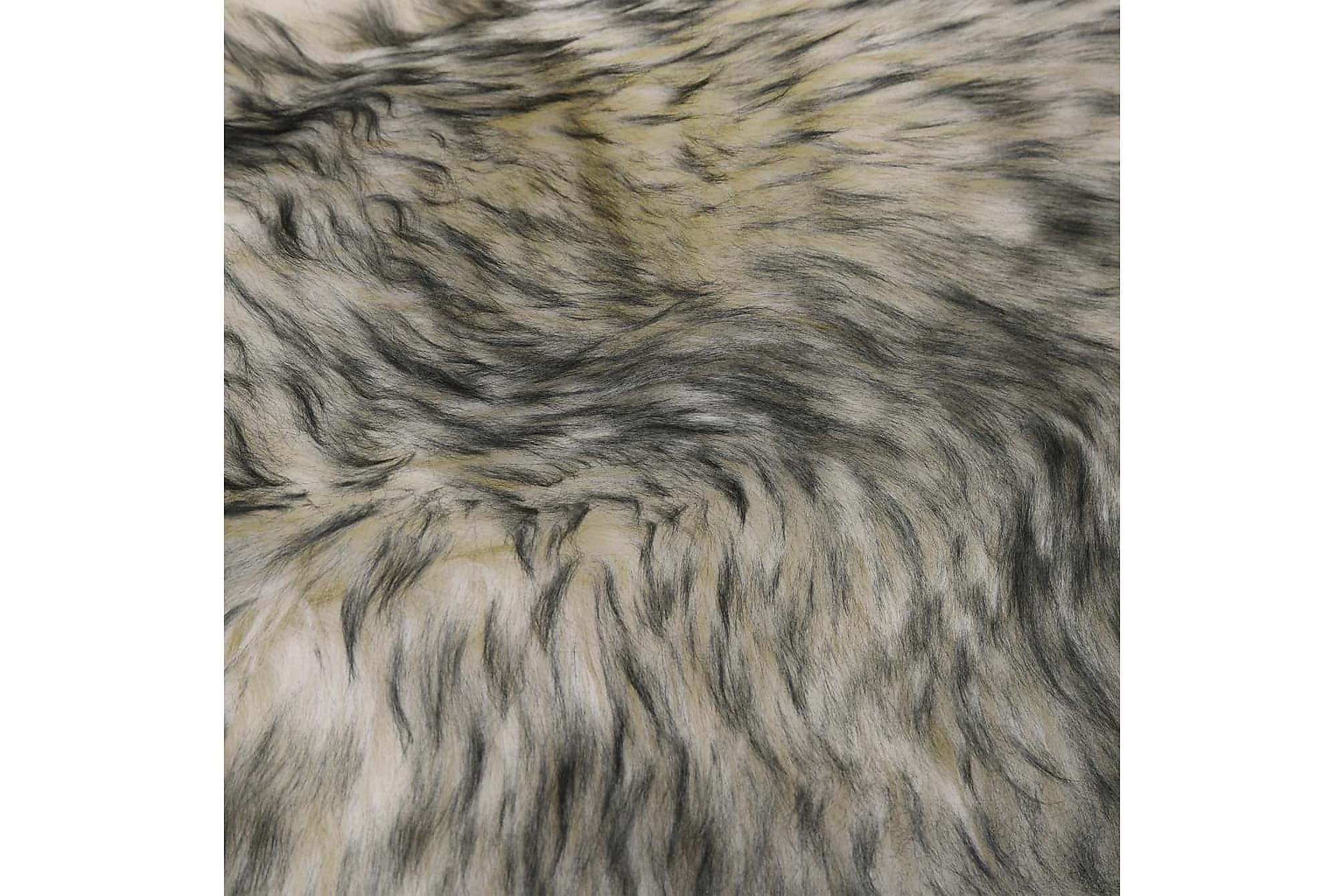 Fårfäll 60×180 cm mörkgrå melange