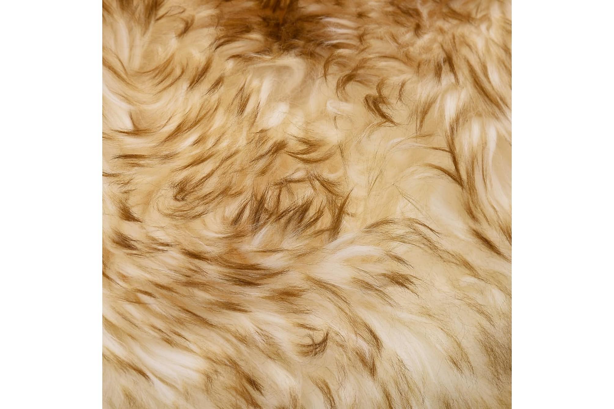 Fårfäll 60×90 cm brun melange