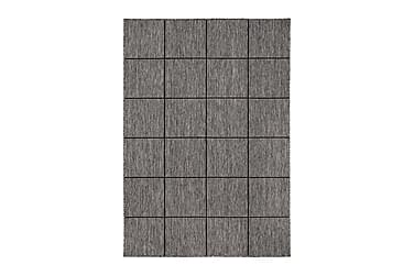 ARAVACA Square Flatvävd Matta 160x230 Grå/Svart
