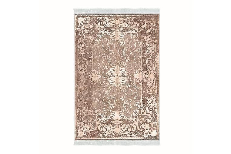 ALANUR HOME Matta 120x180 cm Blekrosa/Cremevit - Möbler & Inredning - Mattor - Wiltonmattor