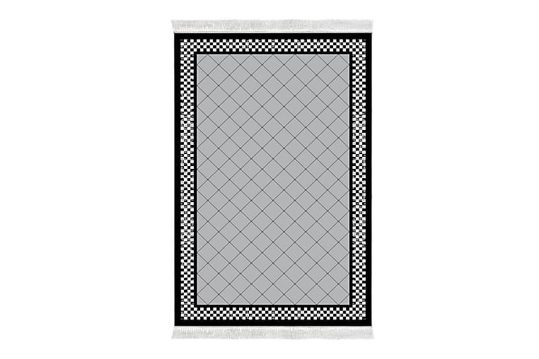 ALANUR HOME Matta 120x180 cm Grå/Svart/Vit - Textilier & mattor - Mattor - Modern matta - Friezemattor